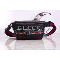 GUCCI LOVERS STYLE LEATHER CHEST BAG POCKET BAG