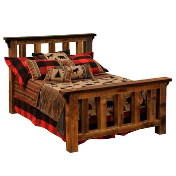 Barnwood Post Bed - California King