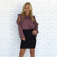 So Divine Blouse in Plum