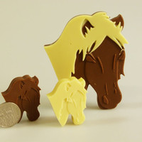 4+1 Horse Pony Animals Farm -  Novelty Chocolate Silicone Mould Candy Cake Topper Silicon Mold - resin / craft / wax / soap