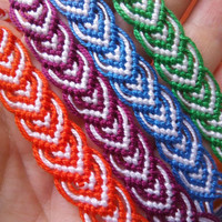 Knots for a Cause - Pick your colors - Custom made  Hearts Macrame Knotted Friendship Bracelet