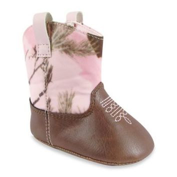 Natural Steps Realtree Camo Western Boot in Pink/Brown