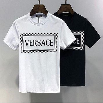 Versace Womens Cotton T-shirt Summer