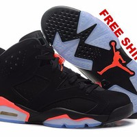 [FREE SHIPPING] AIR JORDAN 6 (BLACK - OVO - DRAKE) £¢Black Infrared£¢ CODE: 384664-023