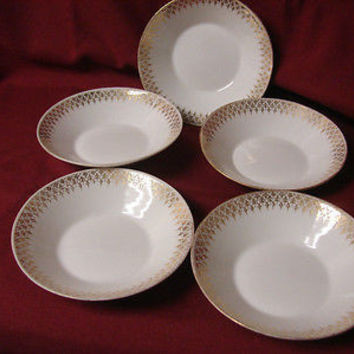 Vintage China Dinnerware A LANTERNIER LIMOGES Pattern # LNT115 (5) Fruit Bowl