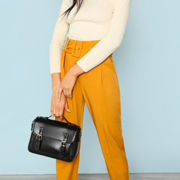 BELTED BEAUTY ANKLE PANTS
