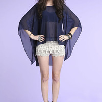 MIDNIGHT BELL SLEEVES BLOUSE
