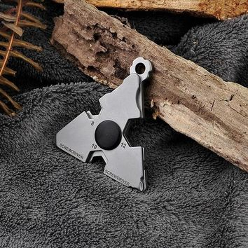 Stainless Steel Outdoor EDC Portable Gadgets, Multi-Purpose Self-Defense Tools, Screwdrivers, Wrenches, Opener.
