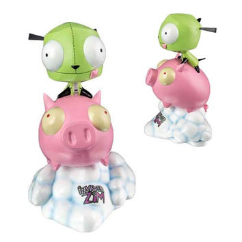 Gir on Pig Invader Zim Limited Edition Statue