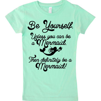 Mint 'Be Yourself' Tee - Infant, Toddler & Girls