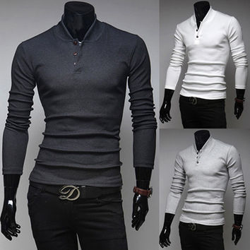 Henley Smart Mens Fashion Knit Shirt