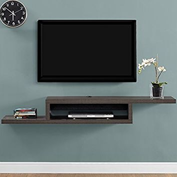 Martin Furniture IMAS360S Asymmetrical Floating Wall Mounted TV Console, 60inch, Skyline Walnut