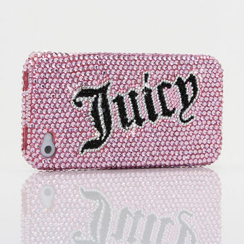 iphone 5 5S 5C 4/4S - Samsung Galaxy S3 S4 Note2 Note 3 - Handcrafted Case Cover 3D Luxury Bling Crystal Diamond Sparkle Pink Juicy Love_273