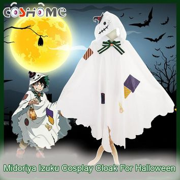 Coshome Boku No Hero Academia Cosplay Costume Izuku Midoriya Cloak For Halloween Party My Hero Academia Christmas C