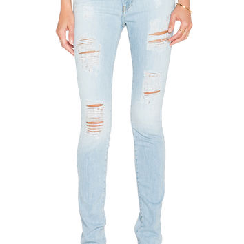 Acquaverde Skinny Jean in Light Used Denim Destroy