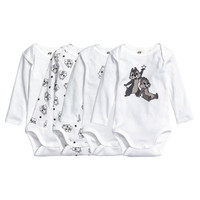4-pack Long-sleeved Bodysuits - from H&M