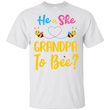 Gender Reveal Pink Blue What Will It Bee He Or She Grandpa