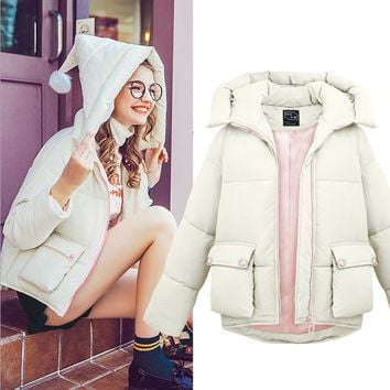 Autumn and winter coat fur hoodie coat