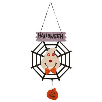 Party Holiday DIY Decorations Ghost Pumpkin Witch Halloween Door Hanging for Home Decor Halloween Door Hanging Party Supplies