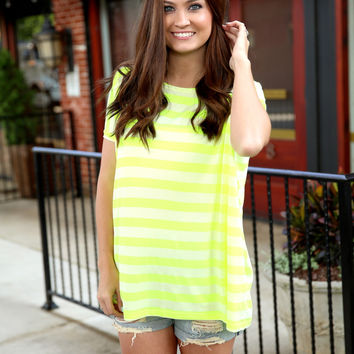 Piko Striped oversized top - yellow