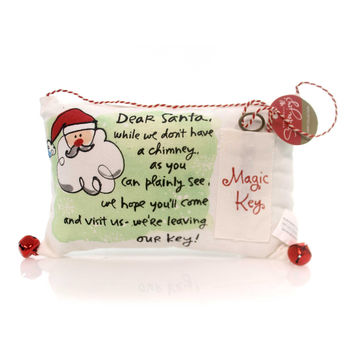 Christmas Magic Key Pillow Christmas Decor