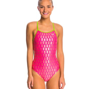 The Finals Aloha Foil Flutter Back One Piece Swimsuit at SwimOutlet.com