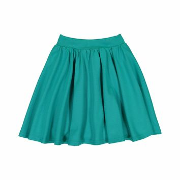 Teela Girls' GRACE Robin Blue Ponte Circle Skirt