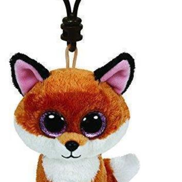 Slick The Fox Ty Beanie Boos Clips Keychain