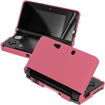 Light Pink Hard Rubberized Case Cover for Nintendo 3DS