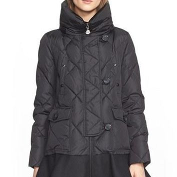 Women's Moncler 'Vaulone' Long Peplum Hem Down Coat,