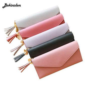 Simple Female Wallet PU Leather Change Long Design Hasp Purses Women's Wallet Clutch Money Wallet For Woman