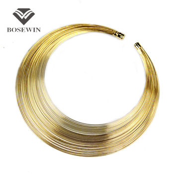 2014 Fashion Multilayer Metal Wire Neck Fit Torques Statement Jewelry Personality Women Collar Necklaces CE2122