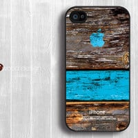 iphone case iphone 4s case iphone 4 cover black iphone case colorized blue wood texture Iphone case design