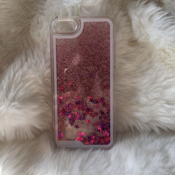 Pink Star Fall iPhone case