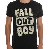 Fall Out Boy Floral Logo T-Shirt