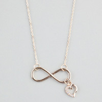Full Tilt Infinity Heart Necklace Gold One Size For Women 22528062101