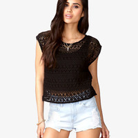 Floral Crocheted Crop Top