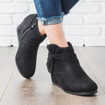 Bow Bootie Wedges