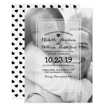 Minimalist Photo Overlay Wedding Card
