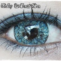 GEO NUDY QUARTER GOLDEN BLUE Circle Lenses Colored Contacts Cosmetic Color Circle Lens   EyeCandy's