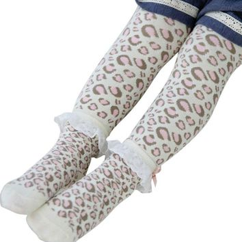 Baby Boys Girls Cartoon Leggings Warmer Cotton PP Pants Trousers+Socks Fit to 0-6Y*2PCs