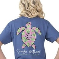 Simply Southern Youth Save The Turtles Tee - Blue Kiwi