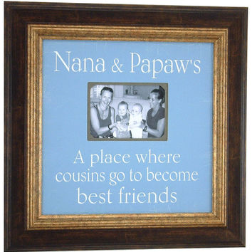 Personalized Grandparents Frame, Nana, Papaw, Grandma, Grandpa, Grandmother, Cousins, Best Friends Personalized Picture Frame 16 X 16