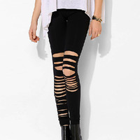 Black Ripped Legging
