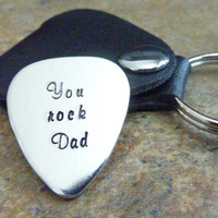 Personalized Guitar Pick Hand Stamped Guitar pick Best Dad Ever Father's Day Gift, Groomsmen, Music Teacher