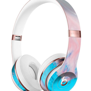 Marbleized Pink and Blue Paradise V322 Full-Body Skin Kit for the Beats by Dre Solo 3 Wireless Headphones
