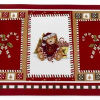 Christmas Bears Holiday Place Mat Set of 4