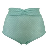 High Waisted Bottoms- Light Green – Margarita Mermaid