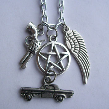 Supernatural Winchesters charm necklace