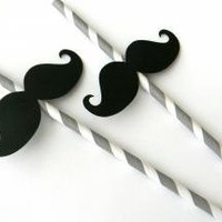 Mustache Party Straws by whimsicaloccasionsxo on Zibbet